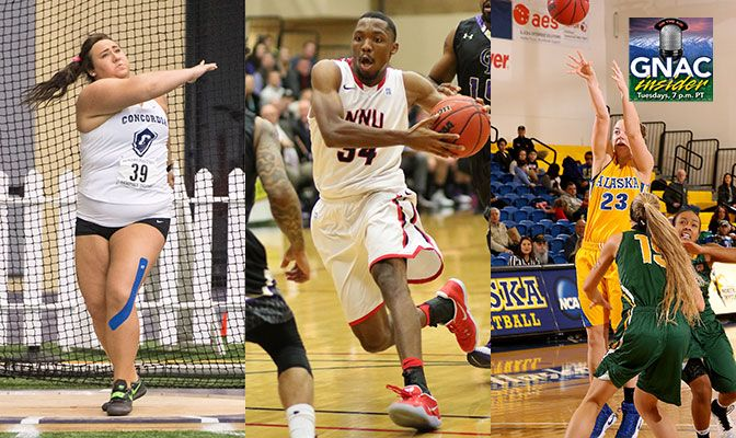Three GNAC student-athletes join GNAC Insider live at 7 p.m. (Pacific) on Tuesday night.