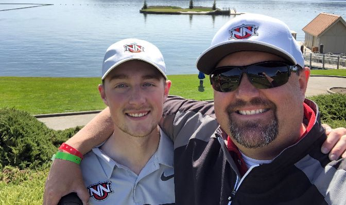 Jared Stensgaard (left) has been coached by his dad, Craig, since he first fell in love with the game of golf.