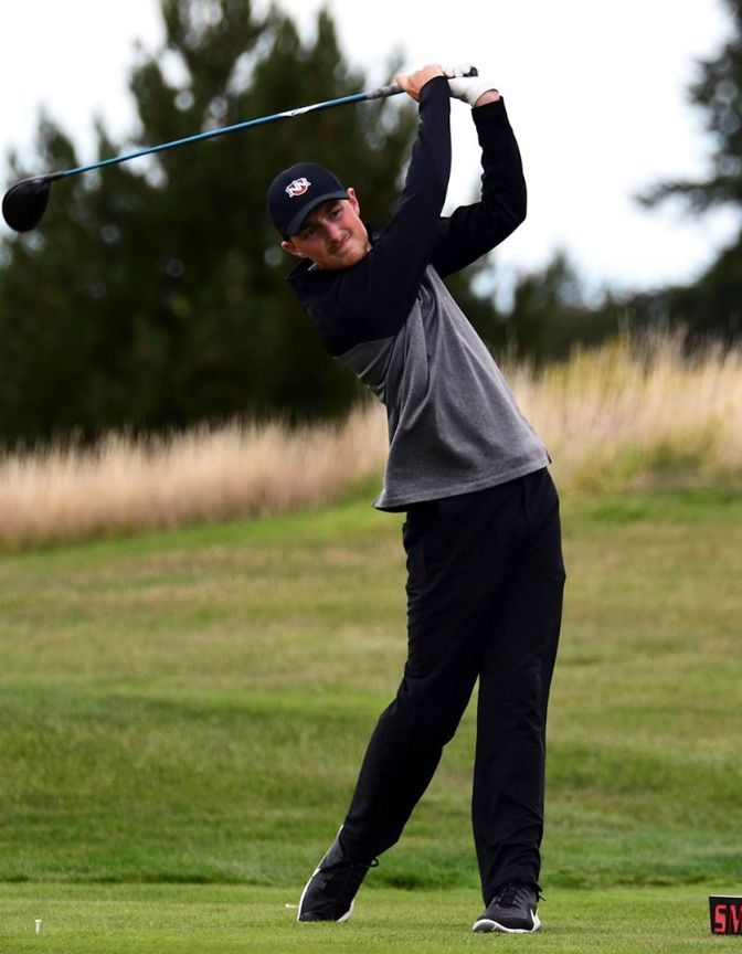 Jared Stensgaard finished with a 79.7 stroke average over 16 rounds in 2019-20.