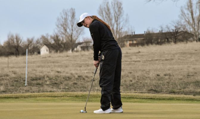 Senior Bailee Dexter is second on Montana State Billings with an average of 81.6 strokes per round.