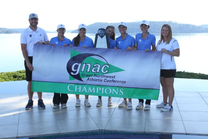 Concordia totaled a tournament-low 299 in the second round to earn the first women's GNAC title in program history. Photo by Shawn Toner.