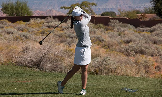 The Vikings' Stephanie Sewell was named the GNAC Women's Golf Player of the Week after placing seventh at the DSU Invitational last week.