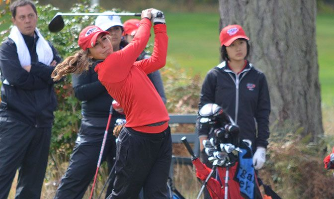 Lisa Zelasko has a 87.7 stroke average per 18 holes in three rounds this fall season.