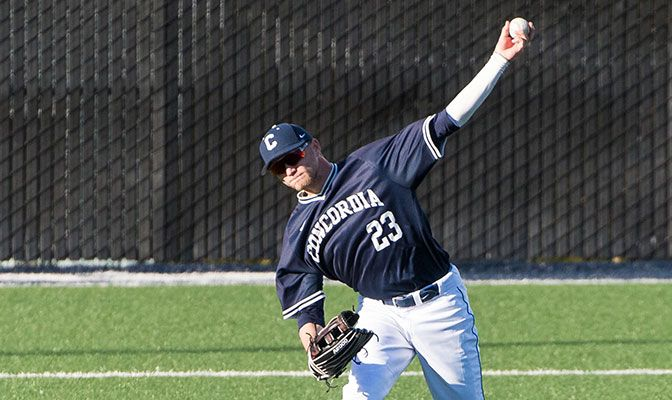 Concordia' Trevor Huddleston was responsible for the Cavaliers' first GNAC win of the season, earning GNAC Baseball Pitcher of the Week honors.