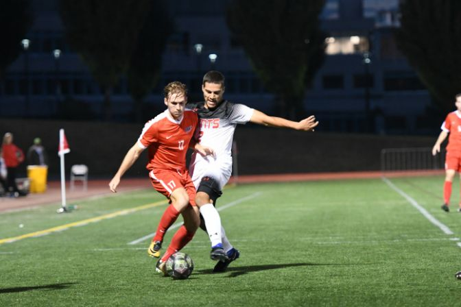 Simon Fraser forward Connor Glennon is the reigning GNAC Men's Soccer Offensive Player of the Week after tallying four goals and two assists last week.