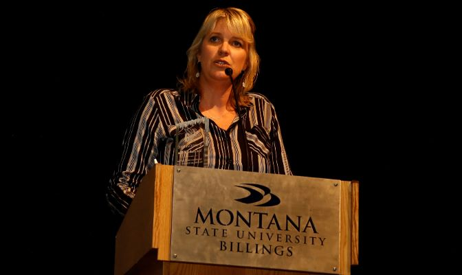 Krista Montague is entering her 16th year at MSU Billings and her sixth as director of intercollegiate athletics.