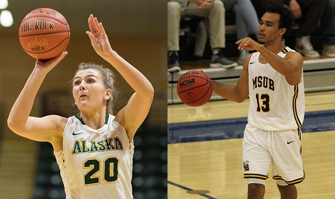 Hannah Wandersee (left) had 32 points, 13 rebounds and six blocks in two games. Green notched back-to-back 19-point nights.