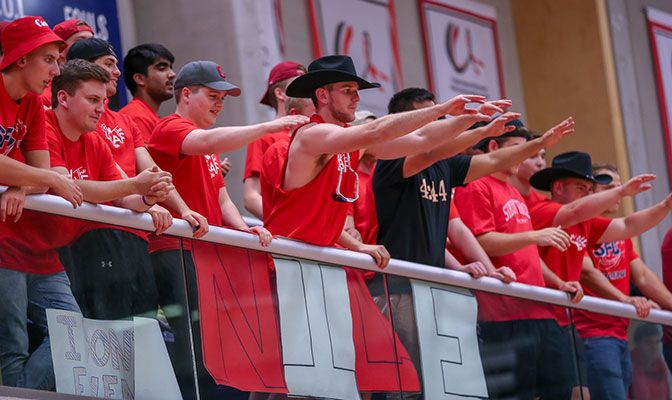 Simon Fraser's Red Night Carnival, held in conjunction with the Sept. 25 volleyball match against Western Washington, brought nearly 700 fans to SFU's West Gym.