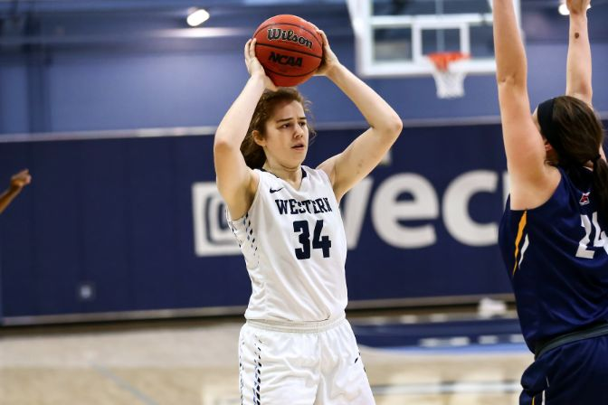 Western Washington sophomore Kelsey Rogers leads the GNAC in scoring and lead off Tuesday night's program.