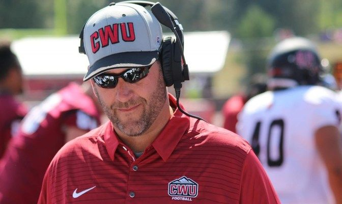 Central Washington football head coach Chris Fisk lead off Tuesday night's program ahead of the start of spring practices this week.