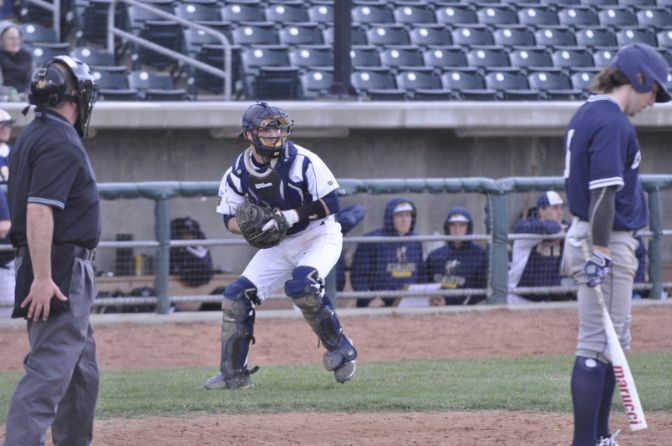 Montana State Billings junior Andrew Schleusner led off Tuesday night's program ahead of this week's showdown with second-place Western Oregon.