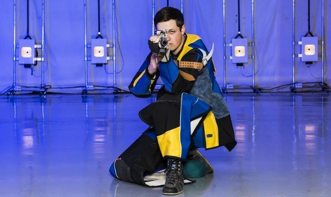 Nathan Taylor's best marks include a 591 in air rifle, a 573 in smallbore and a 1,156 in aggregate. Taylor also serves as Alaska's SAAC president.