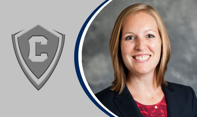 Concordia athletic director Lauren Eads lead off Tuesday night's program after her program's title at the GNAC Softball Championships last week.