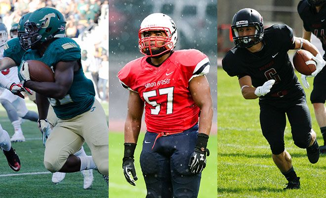 Ja'Quan Gardner (left), Jordan Herdman (center) and Jesse Zalk were all named All-Americans in 2015 by a variety of organizations.