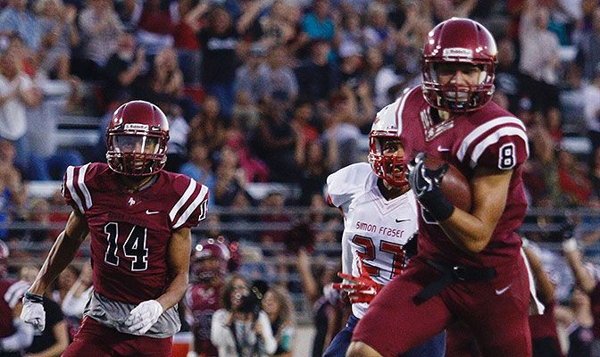 Azusa Pacific wide receiver Weston Carr had 189 receiving yards and four touchdowns in the Cougars' 44-7 title-clinching win over Central Washington.