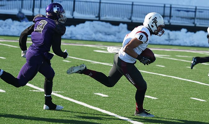 Weston Carr led Azusa Pacific offensively with 68 yards and two touchdowns on two catches.