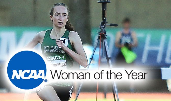 The GNAC champion in the 800 meters outdoors, McCormick earned All-American awards at the distance both indoors and outdoors and as part of the Seawolves' distance medley relay team.