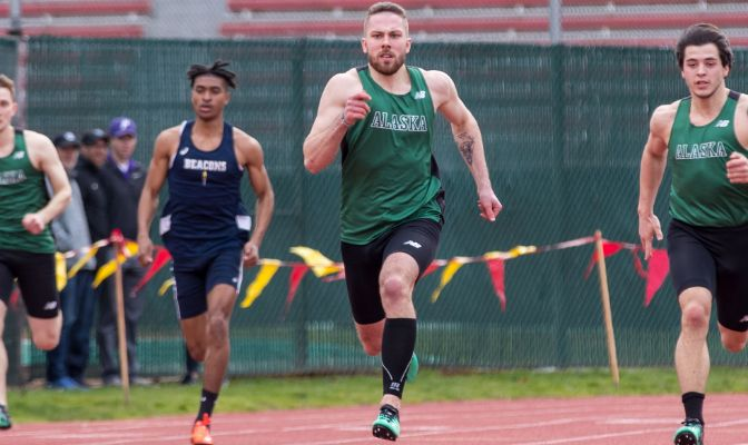 Alaska Anchorage's David Sramek earned All-West Region honors in pole vault and heptathlon during last year's indoor track and field season.