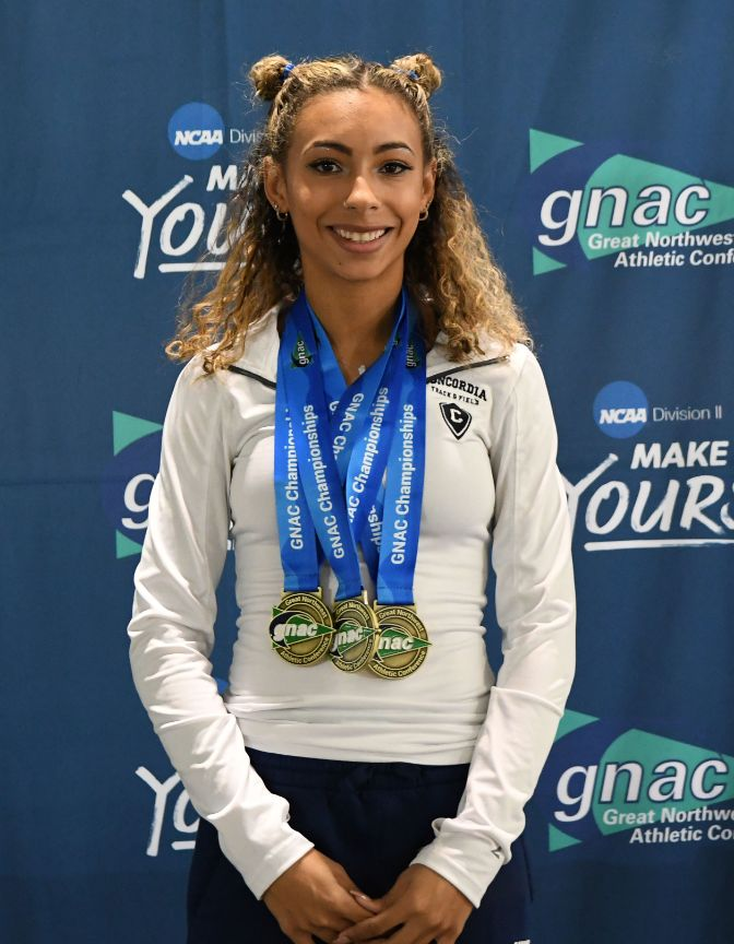 Paige Johnson picked up individual wins in the 60 meters, 60-meter hurdles and high jump.