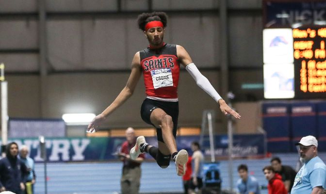 Saint Martin's Tyler Cronk was named the USTFCCCA West Region Men's Field Athlete of the Year and earned West Region honors in the high jump, long jump and triple jump.