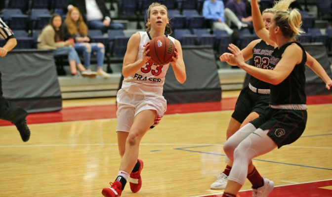 Simon Fraser's Jessica Jones recorded 40 points, six rebounds, five assists and four steals to lead the Clan to a pair of wins at home last week.