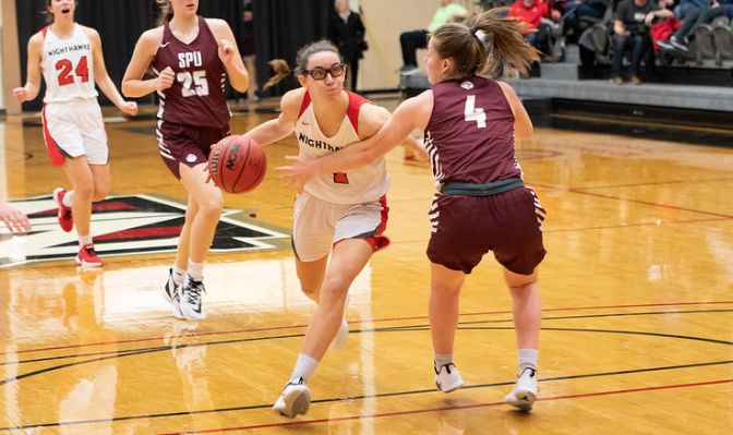 A guard from Barcelona, Spain, Marina Valles has helped to lead NNU to the top of the standings in the early stages of conference play.