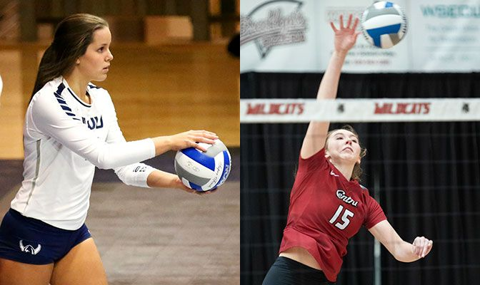 Alison Davenport (left) is one of three returning starters from WWU's national runner-up team in 2018. Makala Swart is one of three CWU returns who earned Honorable Mention All-America honors.