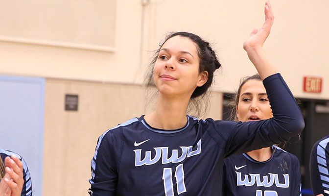 Kayleigh Harper of Western Washington earned First Team All-American honors from both the D2CCA and AVCA.