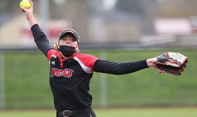 Reilly Tidwell allowed five walks and struck out for batters to earn her no-hitter on Friday over Northwest Nazarene.
