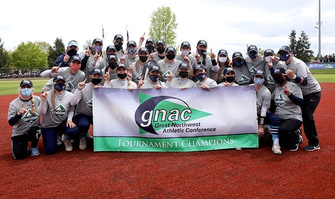 Kasner, Fesenbek Power Vikings To GNAC Softball Title