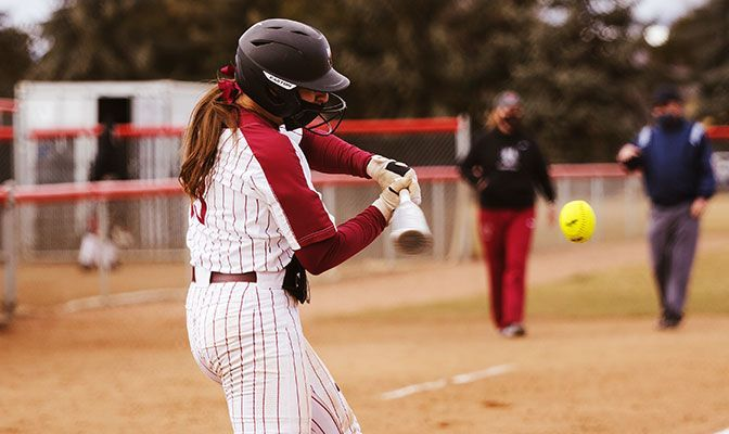 Theresa Moyle's two-run homer sparked a four-run third inning that proved to be the difference in the game.