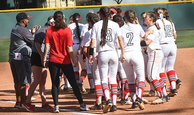 Northwest Nazarene fell to No. 2 seeded Biola despite allowing just five hits to the Eagles. The Nighthawks will now face No. 1 seed Concordia Irvine in an elimination game. Photo by Cayden Jones.