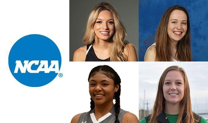 Clockwise From Top Left: Yazmeen Goo (UAA), Brittany Richards (UAF), Amelia Wagoner (HSU) and Bria Thames (SMU).