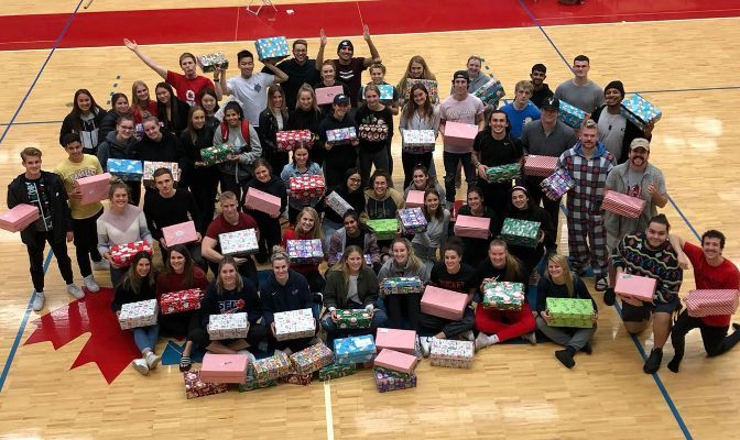 Simon Fraser SAAC members participated in Operation Christmas Child in December 2019 to support children in need in developing countries.