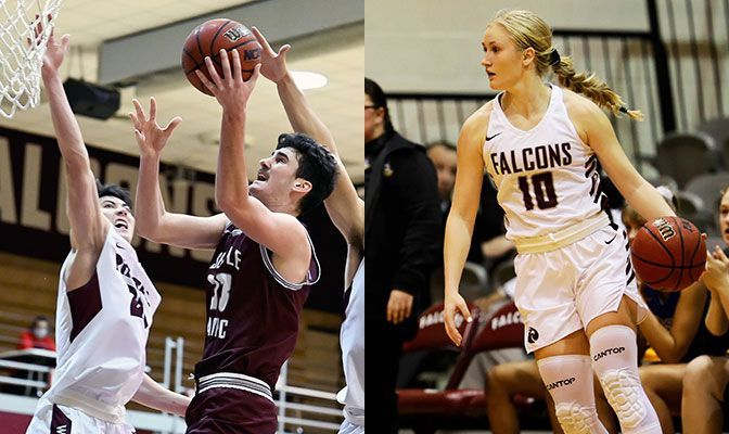 Samore (left) averaged 19 points off the bench in two wins at Saint Martin's. Berg averaged 13.5 points in two games at home vs. Lewis-Clark State.