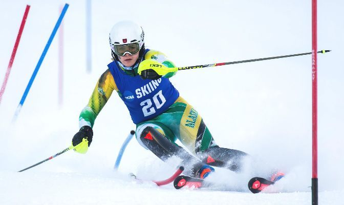 Georgia Burgess finished 28th in the giant slalom at the NCAA Championships as a junior in 2019-20.