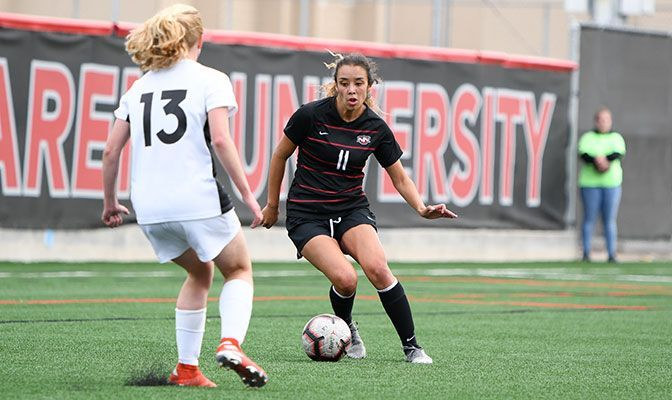 Jade Zimmer scored the only goal of the match in Northwest Nazarene's 1-0 women's soccer win at Division I Idaho State on Friday.