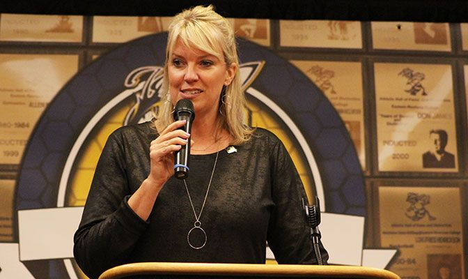 An alumna of Montana State Billings, Krista Montague has served as the school's director of athletics since 2012.