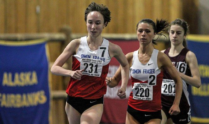 Jennifer Johnson was one of four runners to break the 30-year old meet record in the women's 3,000 meters.