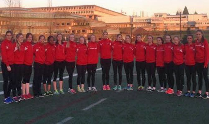 The Simon Fraser women's track & field team placed seventh at the Championships with three top-three finishes.