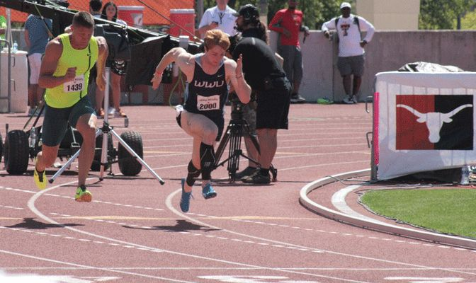 Alex Donigian ran a Division II national-leading time of 10.27 Saturday in the 100 meters at the Texas Relays.