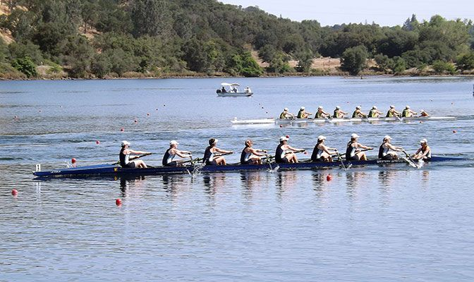 Lake Natoma, located in Gold River, California, is a hot bed for rowing on the West Coast.