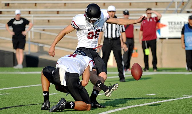 Azusa Pacific's Jacob Hall earned GNAC Special Teams Player of the Week honors after he kicked a 25-yard field goal and made 3 of 3 PAT attempts at West Texas A&M.