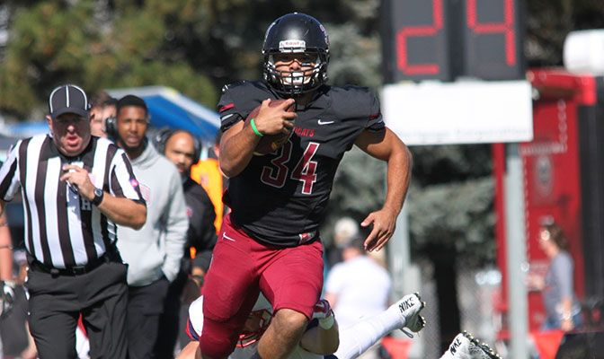 Central Washington running back Christian Cummings ran for 183 yards against Simon Fraser last week, accounting for 32 percent of the Wildcats' 570 yards of offense.