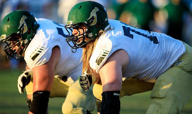 Alex Cappa was a four-time GNAC Offensive Lineman of the Year and is the ninth Humboldt State player selected in the NFL Draft's common era.