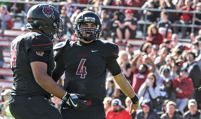 Central Washington quarterback Reilly Hennessey accounted for three touchdowns in the first half, finishing with 265 yards passing in the loss.