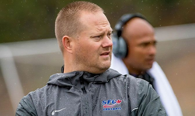 Kelly Bates came from the Canadian Football league ranks to lead the Simon Fraser football program from 2015 to 2017.
