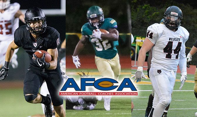 The AFCA All-American selections are the first for Carr (left) and Haynes (right). Gardner was a First Team All-America selection in 2015.