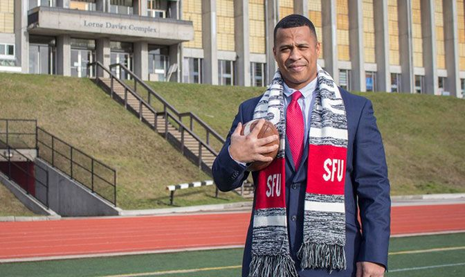 Thomas Ford is the second U.S. born coach to lead the Simon Fraser football program.
