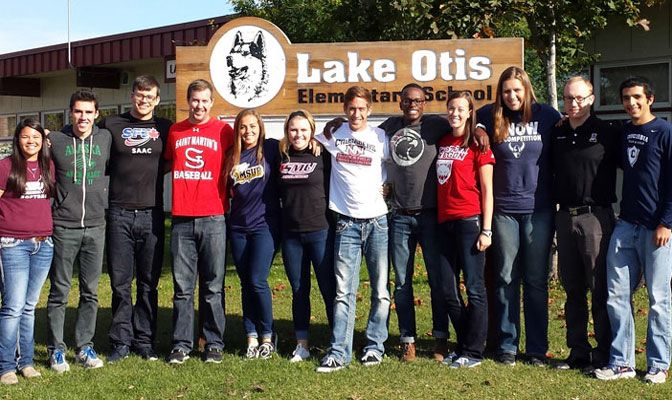 The SAAC representatives read to elementary schools kids and contacted Team IMPACT on the retreat.